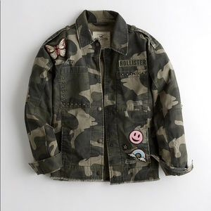 NWT ' Boyfriend Military Shirt Jacket '